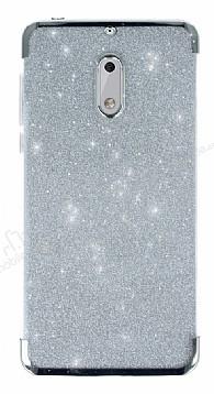 Nokia 6 Simli Silver Silikon Kılıf