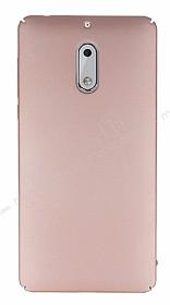Nokia 6 Tam Kenar Koruma Rose Gold Rubber Kılıf