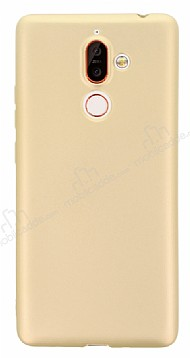 Nokia 7 Plus Mat Gold Silikon Kılıf