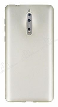 Nokia 8 Mat Gold Silikon Kılıf