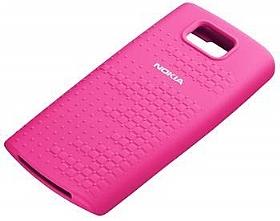 Nokia x3 orjinal pembe silikon kılıf
