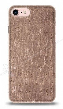 NY Cork iPhone 7 / 8 Rose Gold Gerçek Mantar Kaplama Premium Kılıf