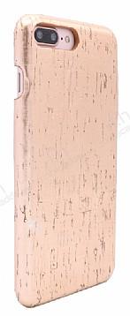 NY Cork iPhone 7 Plus / 8 Plus Rose Gold Gerçek Mantar Kaplama Premium Kılıf