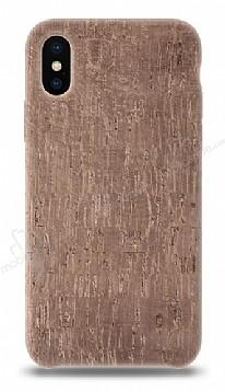 NY Cork iPhone X Rose Gold Gerçek Mantar Kaplama Premium Kılıf