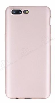 OnePlus 5 Mat Rose Gold Silikon Kılıf