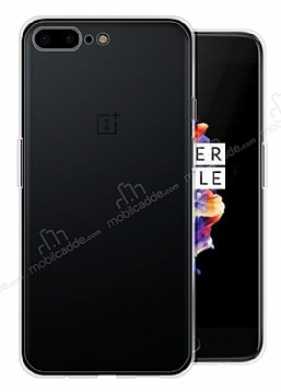 OnePlus 5 Ultra İnce Şeffaf Siyah Silikon Kılıf
