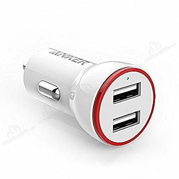PowerDrive Çift Girişli Beyaz Araç Şarj Aleti