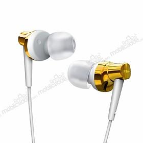 Remax RM-575 Mikrofonlu Kulakiçi Gold Kulaklık