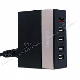 Remax RU-U1 USB Çoklu Şarj Aleti 5 Port Girişli