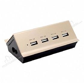 Remax RU-UZ USB Çoklu Şarj Aleti 4 Port Girişli