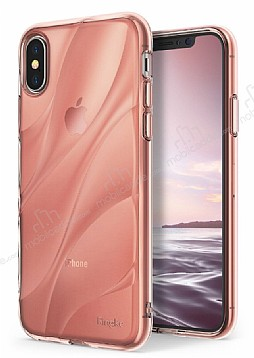 Ringke Flow iPhone X Ultra Koruma Rose Gold Kılıf