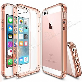 Ringke Fusion iPhone SE / 5 / 5S Ultra Koruma �effaf Rose Gold K�l�f