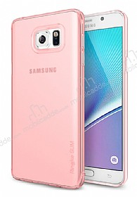 Ringke Slim Frost Samsung Galaxy Note 5 360 Kenar Koruma Pembe Rubber Kılıf