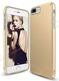 Ringke Slim iPhone 7 Plus 360 Kenar Koruma Gold Rubber K�l�f