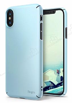 Ringke Slim iPhone X / XS Tam Kenar Koruma Sky Blue Rubber Kılıf