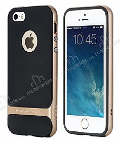 Rock Royce iPhone SE / 5 / 5S Gold Metalik Kenarlı Silikon Kılıf