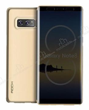 Rock Samsung Galaxy Note 8 Manyetik Kapaklı Gold Kılıf