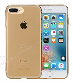 Rock Slim Jacket iPhone 7 Plus �effaf Gold Silikon K�l�f