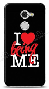 Alcatel A3 I Love Being Me Black Kılıf