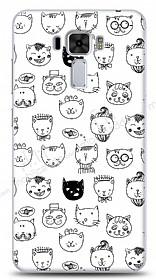 Asus Zenfone 3 Laser ZC551KL Cute Cats Kılıf