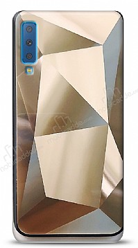 Eiroo Prizma Samsung Galaxy A7 2018 Gold Rubber Kılıf