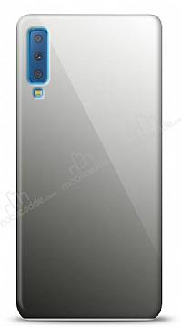 Eiroo Samsung Galaxy A7 2018 Silikon Kenarlı Aynalı Siyah Kılıf