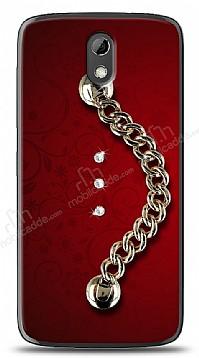 HTC Desire 526 Ring Shine Taşlı Metal Askılı Kılıf