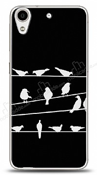 HTC Desire 626 Birds Black Kılıf