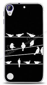HTC Desire 830 Birds Black Kılıf