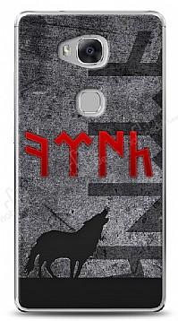 Huawei GR5 Göktürkçe Türk Kırmızı Yazılı Kılıf