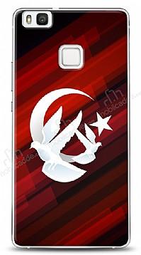 Huawei P9 Lite Güvercinli Bayrak Kılıf
