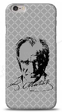 iPhone 6 / 6S Atatürk Silüet İmza Gri Kılıf