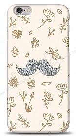 iPhone 6 Plus Bling Mustache Taşlı Kılıf