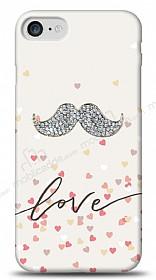 iPhone 7 Mustache Shine Taşlı Kılıf