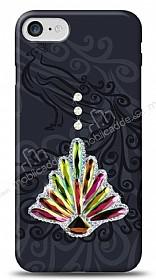 iPhone 7 Peacock Shine Taşlı Kılıf