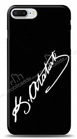 iPhone 7 Plus Atatürk İmza Siyah Kılıf
