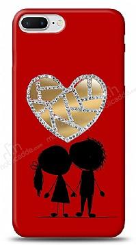 iPhone 7 Plus Couple Love Taşlı Aynalı Kılıf
