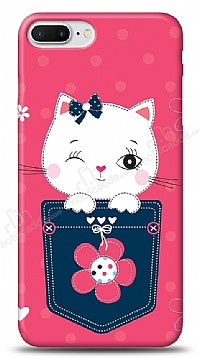 iPhone 7 Plus Pink Cat Kılıf