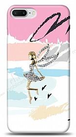 iPhone 7 Plus Wing Girl Taşlı Kılıf