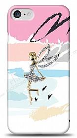 iPhone 7 Wing Girl Taşlı Kılıf