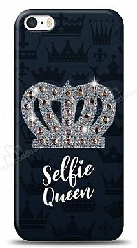iPhone SE / 5 / 5S Selfie Queen Taşlı Kılıf