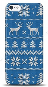 iPhone SE / 5 / 5S Sweater Deer Mavi Kılıf
