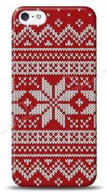 iPhone SE / 5 / 5S Sweater Snow Kırmızı Kılıf