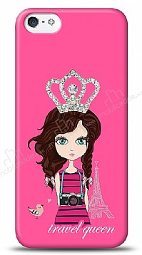 iPhone SE / 5 / 5S Travel Queen Taşlı Kılıf
