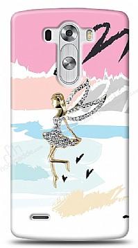 LG G3 Wing Girl Taşlı Kılıf