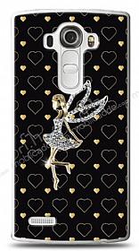LG G4 Lovely Girl Taşlı Kılıf