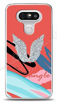LG G5 Colorful Angel Taşlı Kılıf