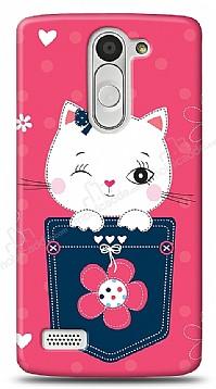 LG L Bello Pink Cat Kılıf