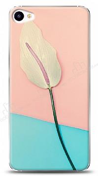 Meizu U20 Pink Blue Leaf Kılıf