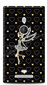 Nokia Lumia 925 Lovely Girl Taşlı Kılıf